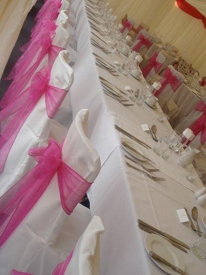 Pink sashes