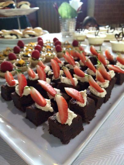 Mini chocolate brownies