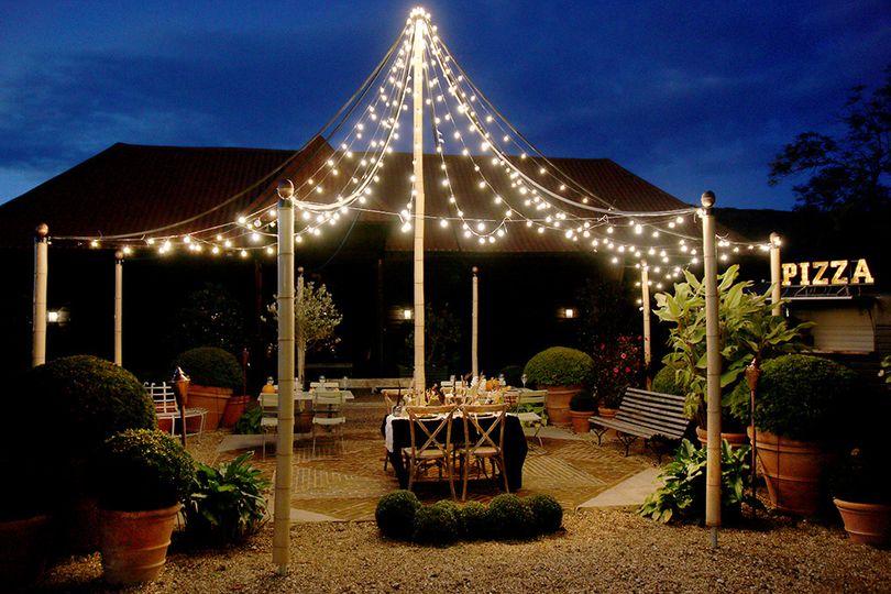 Mediterranean outdoor dining