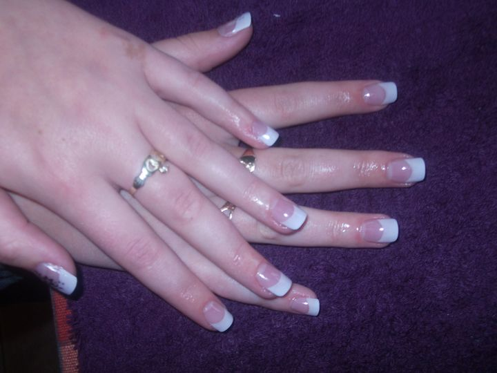 Acrylic extensions with nail art