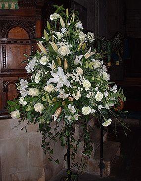 Floral Pedestal within Church