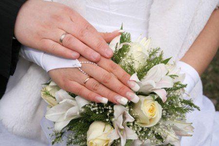 wedding nail art idea