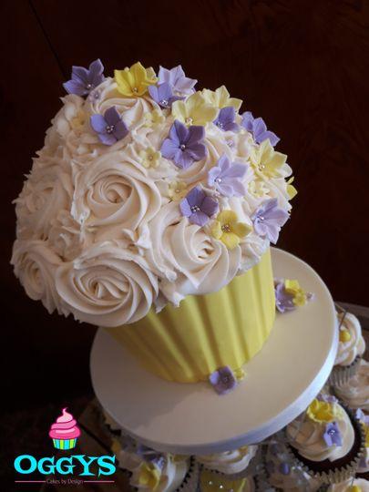 Lilac & Lemon Giant Cupcake
