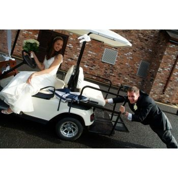 Golf cart for photos