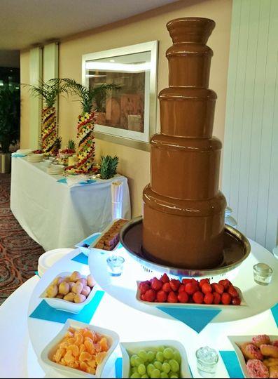 Chocolate Fountain & Palms