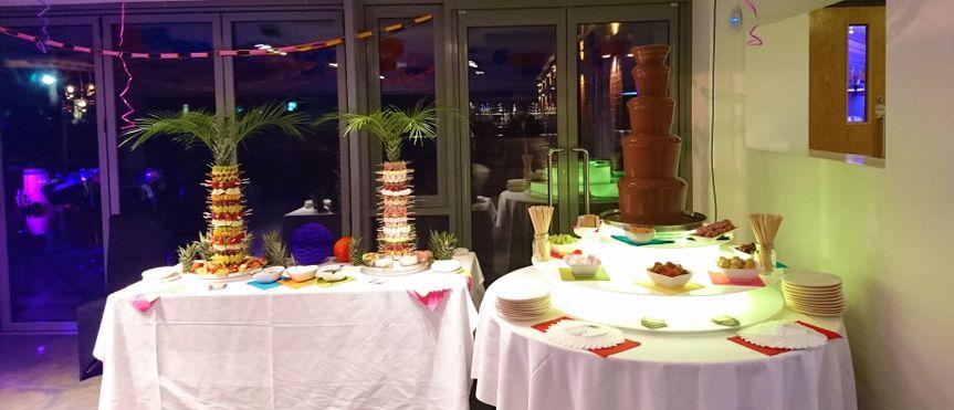 Chocolate Fountain & Palms 2