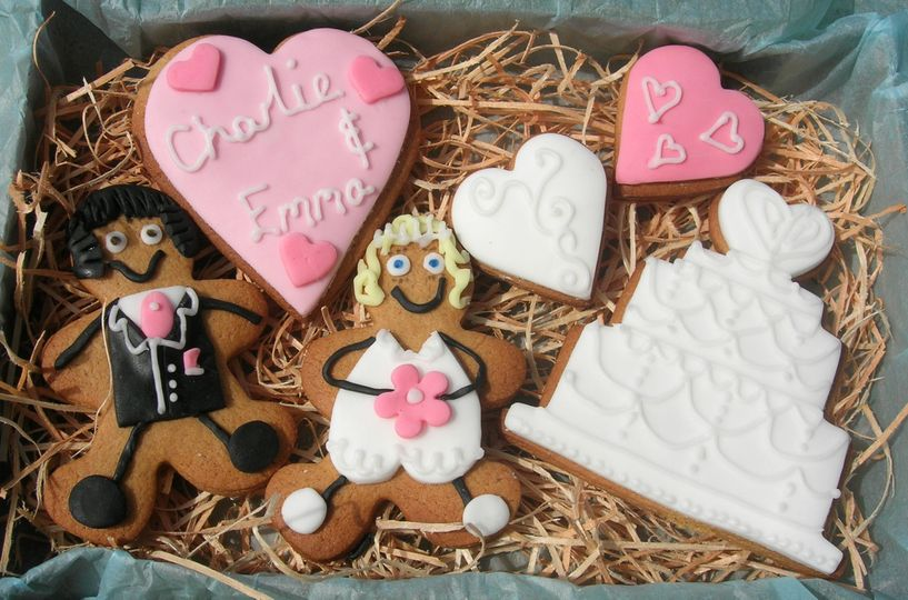 Wedding Iced Biscuits Gift Set