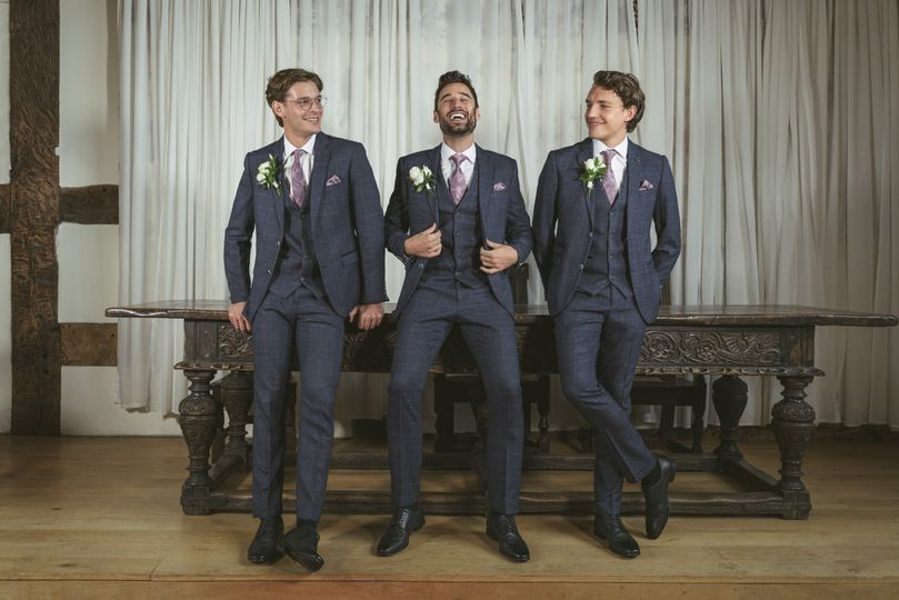 Three-piece wedding suits