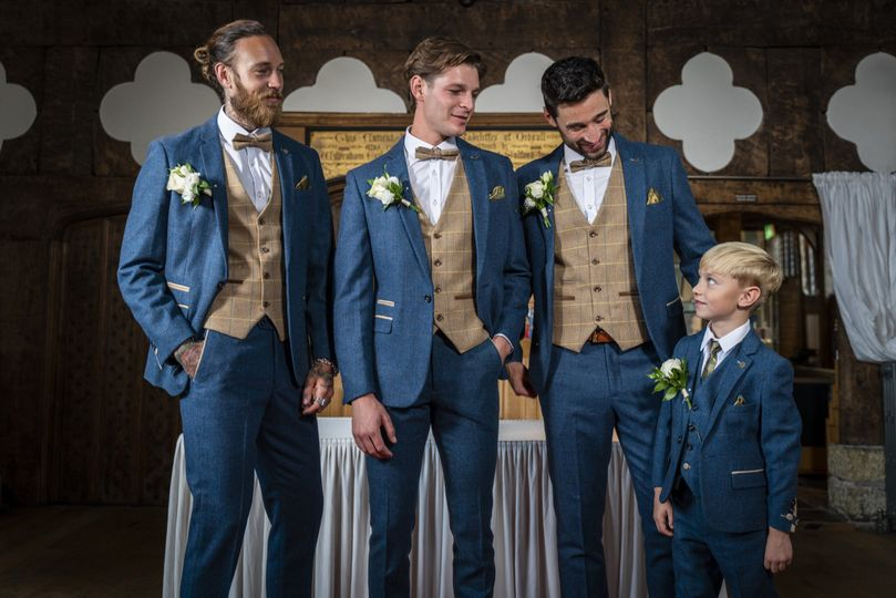 Three-piece suits with waistcoats