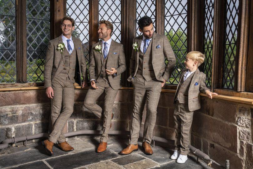 Matching wedding garments