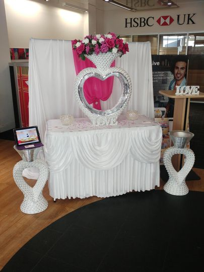 Showcasing our decor at HSBC