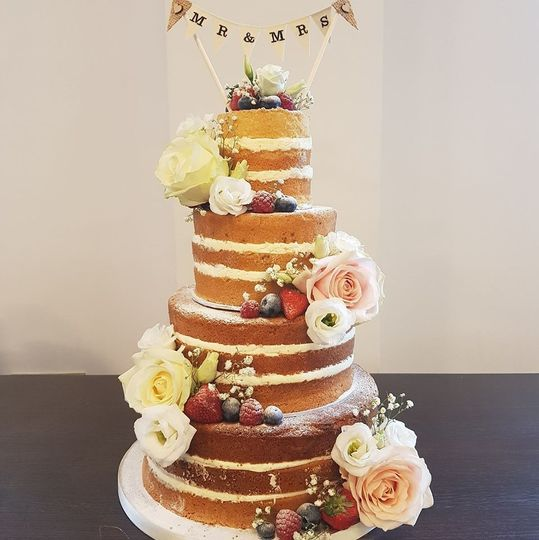Naked four-tier cake