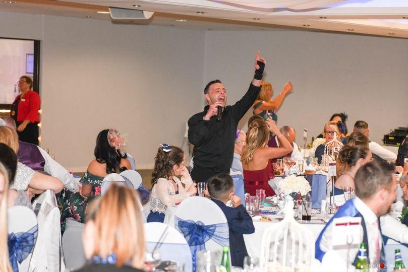 Surprise wedding singer