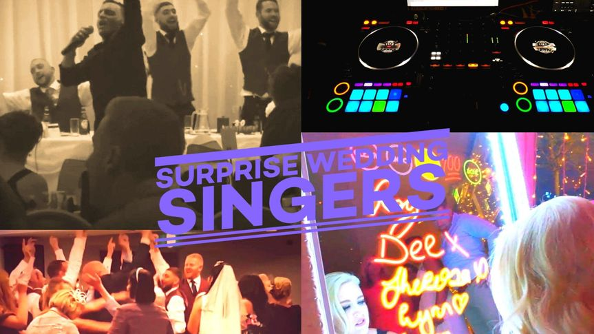 Singing Waiters, Mini Band,Wedding DJ & MC Selfie Mirrors, Confetti Cannons From £495