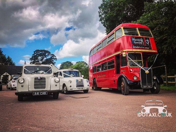 Wedding buses and cars