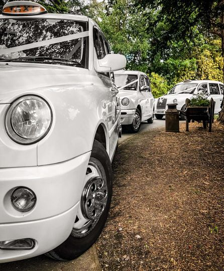 Our modern style wedding taxis