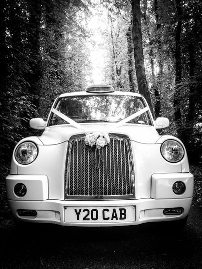 Our modern style wedding taxi