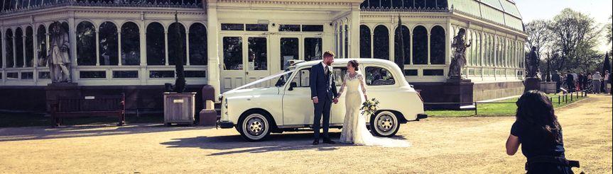 Classic wedding car Sefton