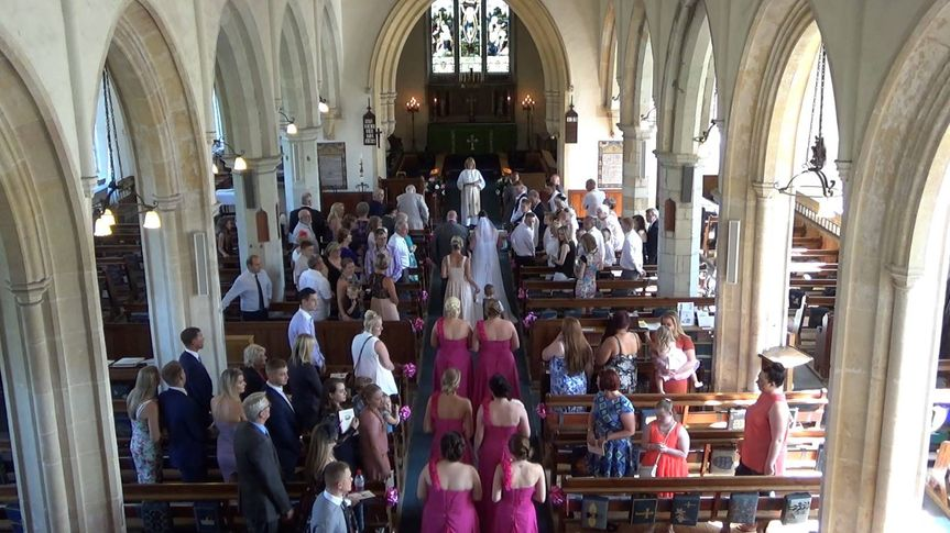 Overview of church wedding