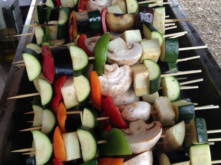 Veggie skewers on the bbq
