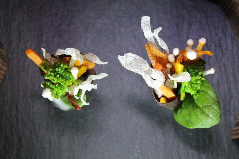 Vegetable canapé