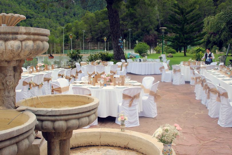 Open air wedding decoration
