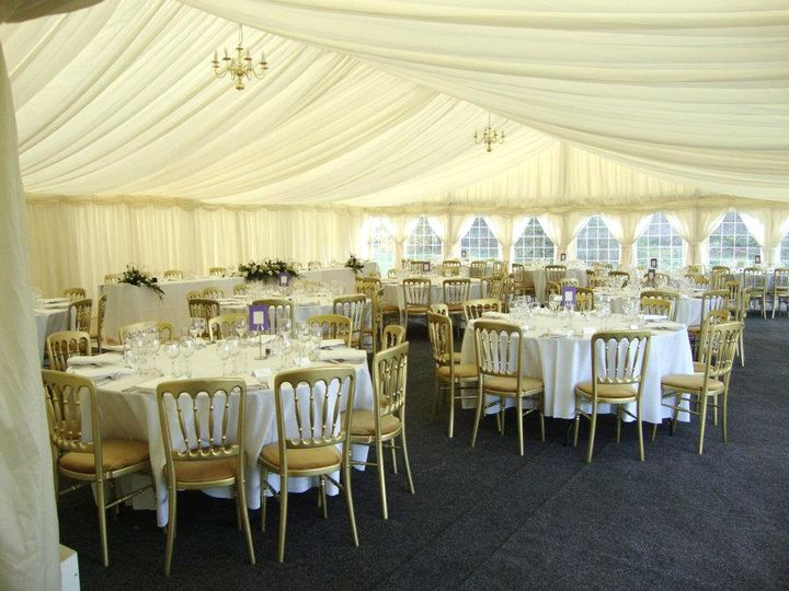 Marquee in the Castle grounds