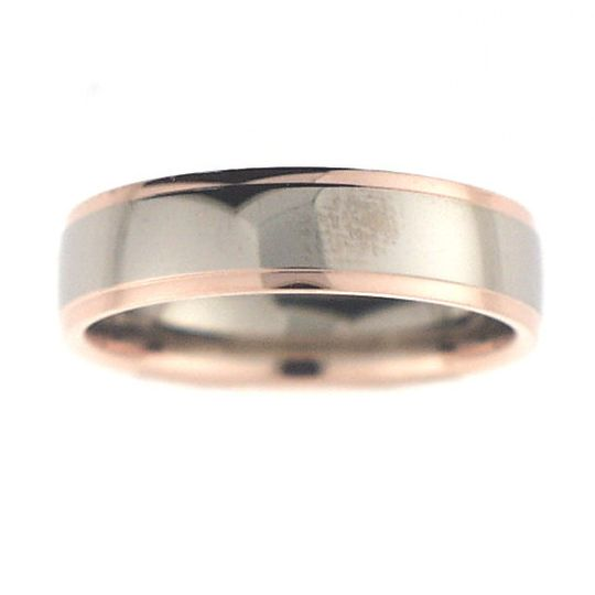 18 carat white and rose gold