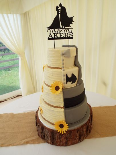 Batman/half and half cake