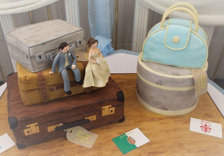 Suit cases & hat box