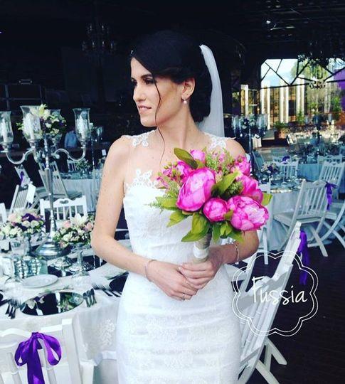 Fussia Peony Bouquet