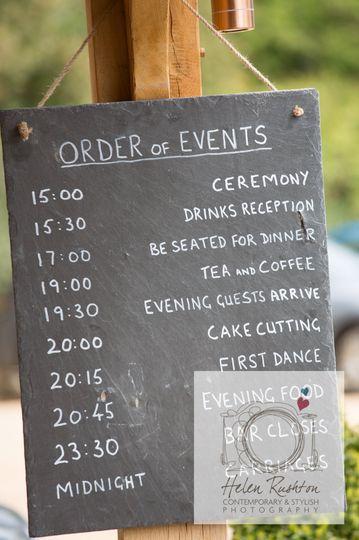 Slate wedding chalkboard