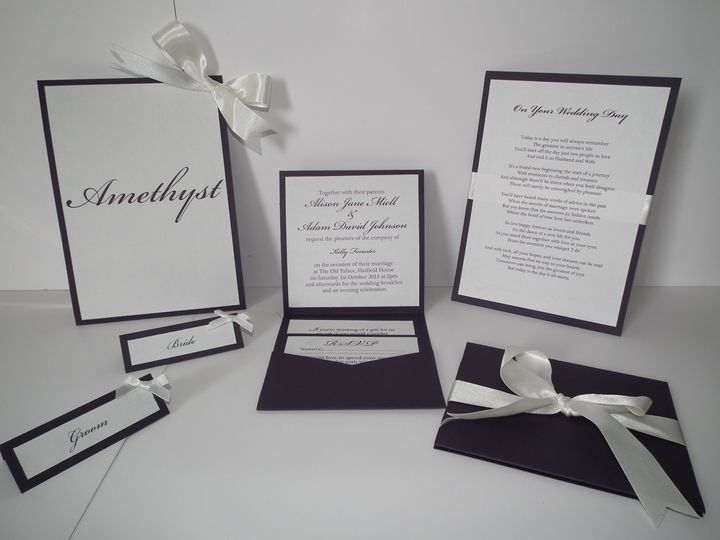 Amethyst Wedding Stationery Set