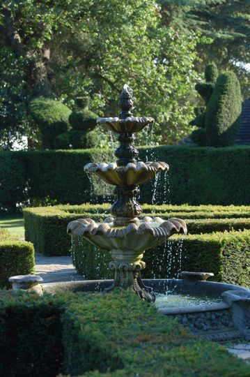 Fountain in the knot garden
