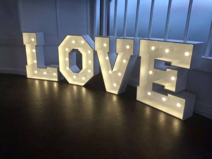 4ft Illuminated LOVE Letters