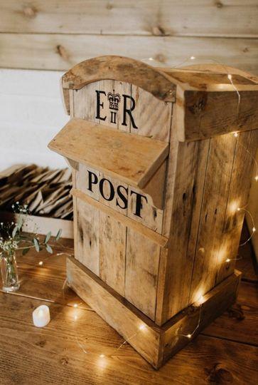 Rustic Wooden Post Box