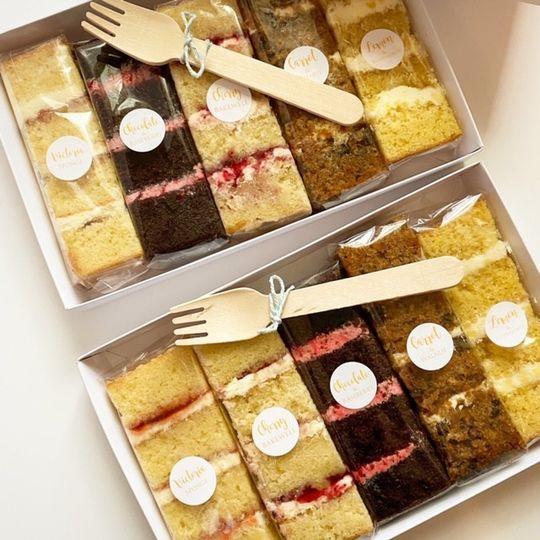Sample cake box