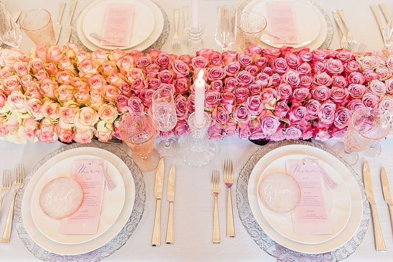 multicultural wedding planner pearline events pretty elegant wedding inspiration table decoration rose table runner 4 272435 158963637291035