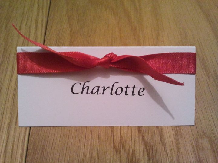 Coordinating Place Cards