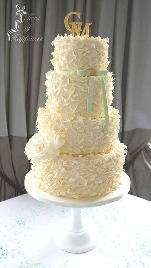 Soft feather wedding cake