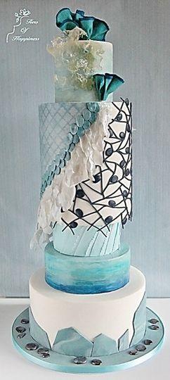 Mermaid dress inspired cake