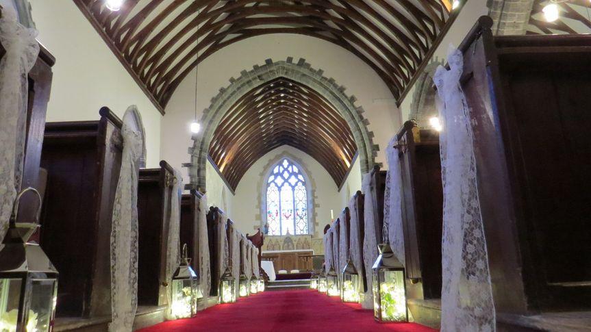 Church isle with lanterns