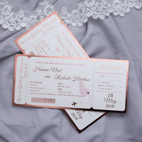 Ticket Style Invitation