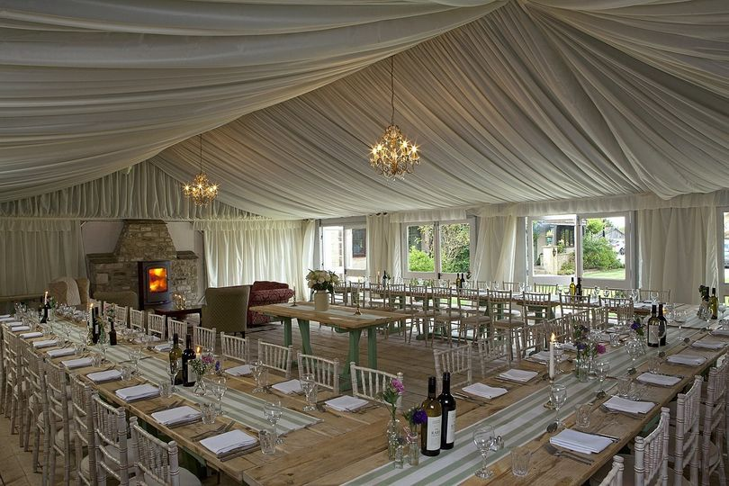 Wedding Breakfast in the Green House Marquee
