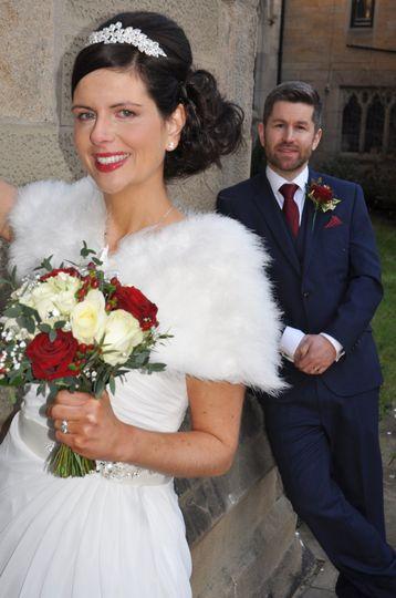 The groom behind