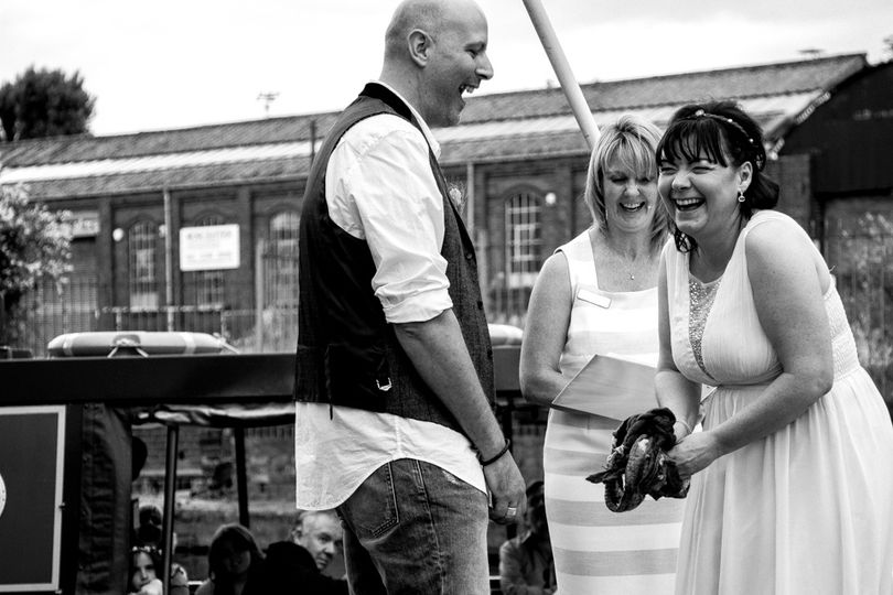 Canalside wedding and handfasting