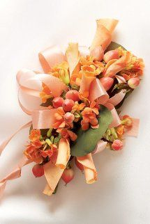 Sweet Peach Rose Corsage