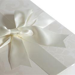 Custom box with ribbon