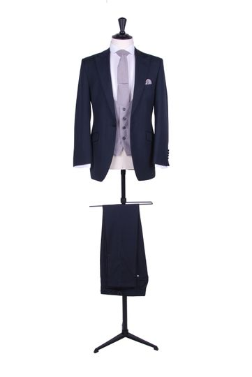Navy slim fit suit hire