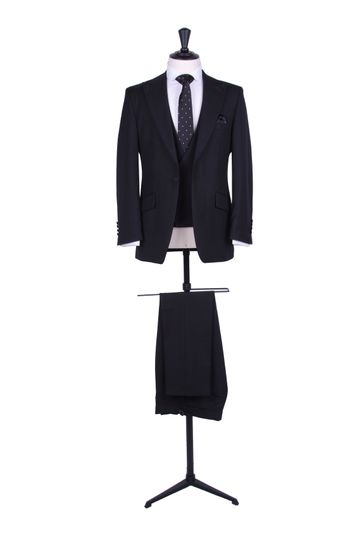 Black slim fit suit.